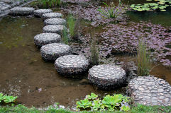 Stepping stone in garden Royalty Free Stock Image