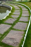 Stepping stone path Stock Image