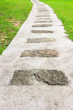 Stepping Stone Path. In a Beautiful Green Garden Royalty Free Stock Image