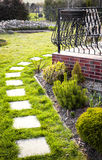 Stepping stone paving slabs Stock Images