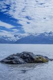 Stepping Stone. Picture taken at the Cook Inlet in Girdwood Alaska royalty free stock photos
