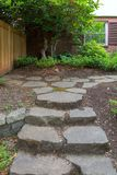 Stepping Stone Steps path to Backyard Garden Royalty Free Stock Photos