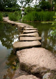 Stepping stones stock images