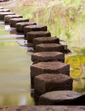 Stepping Stones Across a River Royalty Free Stock Images