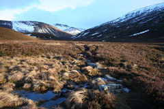 Stepping stones, Cairngorms royalty free stock photography