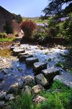 Stepping Stones. Curved Stepping Stones at Stainforth Royalty Free Stock Images