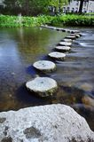 Stepping Stones. Diagonal Line of Stepping Stonnes Stock Photo