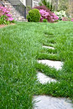 Stepping Stones in the Grass royalty free stock photos