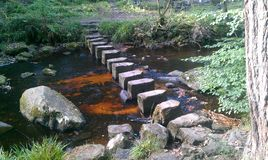 Stepping stones. At hardcastle crafts river walk Royalty Free Stock Images