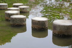 Stepping stones in Kyoto Royalty Free Stock Photos