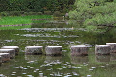 Stepping stones in Kyoto Stock Image