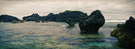 Stepping Stones. Rock formations abound at Batan island, Batanes Royalty Free Stock Photography