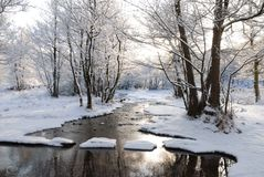 Stepping Stones in the Snow Stock Photography