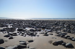 Stepping Stones. Taken in Pembrokeshire, April 2014. Newgale Beach Royalty Free Stock Photos