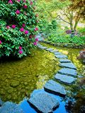 Stepping Stones Through The Pond Royalty Free Stock Photos