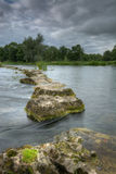Stepping Stones to the salmon beats 3. The stepping stones to the salmon fishing beats stock photography