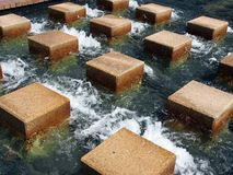 Stepping Stones in Water Stock Photography
