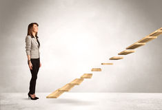 Stepping up a staircase Royalty Free Stock Images