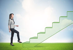Stepping up a staircase Royalty Free Stock Photography