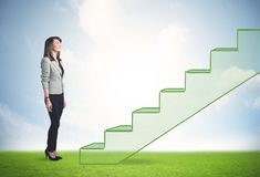 Stepping up a staircase Stock Photos