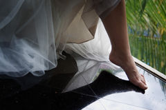 Stepping into wedding Royalty Free Stock Image