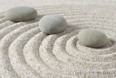 Stepping zen stones Stock Photo