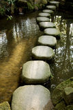 Steppingstones. In a Buddhist Temple garden in Kyoto, Japan Royalty Free Stock Photos