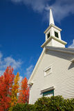 Steppled Church colored trees Royalty Free Stock Images