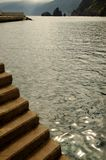 Stepps near the ocean. Porto Moniz stock image