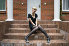 At steps Stock Photography