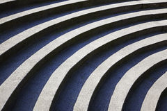 Steps. Semi-circular concrete steps in public park Royalty Free Stock Photo