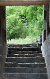 Steps. Ancient fort path steps background royalty free stock photo