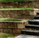 Steps. Concreate and brick steps and seating in an outdoor amphitheatre Stock Image