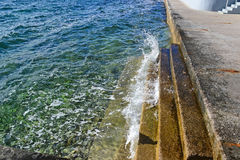 Steps at the Adriatic sea. In summer Stock Photography