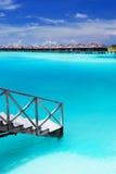 Steps into amazing blue lagoon Stock Photos
