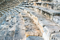 Steps of an ancient amphi theatre Royalty Free Stock Photography