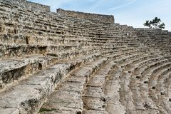 Steps of the ancient amphi theatre at Pamukkale, Royalty Free Stock Images