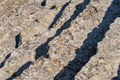 Steps at Ancient theater in Hierapolis Royalty Free Stock Photos