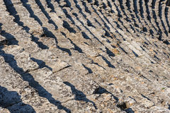 Steps at Ancient theater in Hierapolis Stock Image
