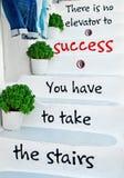 Steps aphorism Royalty Free Stock Image