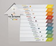 10 steps of arrow Infografics template. for your presentation. EPS 10 Stock Image