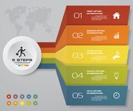 5 steps of arrow Infografics template. for your presentation. EPS 10. Stock Photo