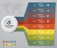 8 steps of arrow Infografics template. for your presentation. EPS 10. Stock Photography