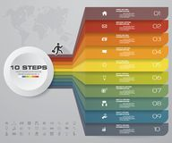 10 steps of arrow Infografics template. for your presentation. EPS 10. For your design and sample text Royalty Free Illustration
