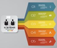 5 steps of arrow Infografics template. for your presentation. EPS 10. Royalty Free Stock Photography