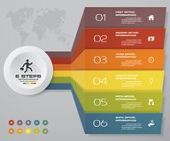 6 steps of arrow Infografics template. for your presentation. EPS 10. Stock Photography
