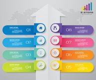 8 steps of arrow infografics template. for your presentation. EPS 10 stock illustration