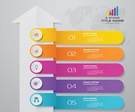 5 steps arrow infographics element template chart for presentation. EPS 10 vector illustration