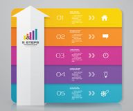5 steps arrow infographics element template chart for presentation. EPS 10 royalty free illustration