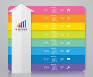 8 steps arrow infographics element template chart for presentation. EPS 10 stock illustration